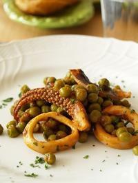 イカとグリンピースの煮込み~トスカーナ料理 - シニョーラKAYOのイタリアンな生活