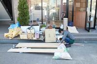 LUccica美容室の改修工事現場の手伝い - くのさんち