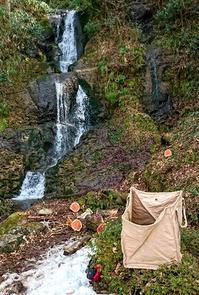 滝の前の倒木 - 金沢犀川温泉 川端の湯宿「滝亭」BLOG