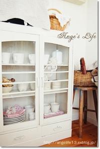使いやすいガラス棚へ - 雑貨屋Angeの整理収納ブログ