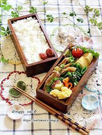 豚肉キャベツの味噌炒め弁当と春パスタ♪ - ☆Happy time☆