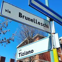 ブルネレスキ通り - Via Bella Italia ベッライタリア通りから