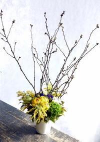 保育園の卒園式にアレンジメントと一輪花束25個。栄通3にお届け。2018/03/17。 - 札幌 花屋 meLL flowers