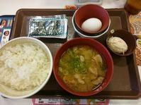 3/18  たまかけ朝食豚汁変更¥360@すき家 - 無駄遣いな日々