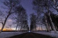 星空の並木道 - 山歩き川歩き