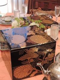 和を意識したテーブルで - BEETON's Teapotのお茶会