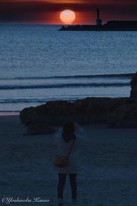 稲佐の浜のだるま夕日 - 写真ブログ「四季の詩」