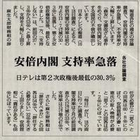 安倍内閣の支持率が30%に - ながいきむら議員のつぶやき(日本共産党長生村議員団ブログ)