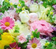 花のギフトおじいさまへ、卒寿のお祝いへくすだまつめくさ24日生花ワイヤリングレッスン - 一会 ウエディングの花