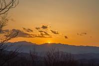 多峰主山の夕暮れ - デジカメ写真集