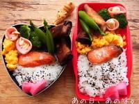 【ふたり弁】紅鮭&焦げ春巻。春ツチノコ。 - あの日、あの味。