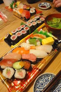 握り寿司 〜お惣菜の晩ごはん - 週末は晴れても、雨でも
