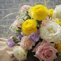 結婚式のおみやげ花でアレンジ - グリママの花日記