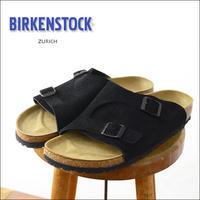 BIRKENSTOCK [ビルケンシュトック正規販売店] ZURICH NARROW TAUPE [050463] 本革 ベロア チューリッヒブラック スウェード MEN'S/LADY'S - refalt   ...   kamp temps
