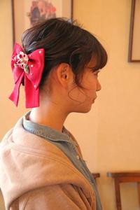 卒園式 卒業式 ヘアスタイル 髪型 袴 ボブ ショート 和服髪型 リボン さくら市 美容室エスポワール - 美容室エスポワール