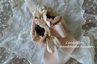 春の陽射しのような柔らか色のお花のクリップ♪アネモネ - 愛知 豊橋 布花アクセサリーCendrillon