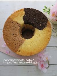 3色のシフォンケーキ - nanako*sweets-cafe♪