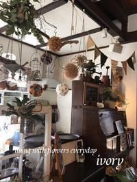 3月25日(日)は  IVORY 花教室 3 MARCH 開催です〜♬ -  Flower and cafe 花空間 ivory (アイボリー)