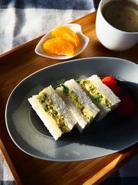 ブロッコリー入りふわふわ卵サンド - Kitchen diary