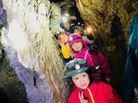 7days冒険学校〔1日目〕まずは洞窟探検、鍾乳洞へ!ヘッドライトをつけて真っ暗な世界に入ってみよう! - ねこんちゅ通信(ネコのわくわく自然教室)