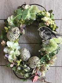 アトリエ便り 〜春の訪れ オーバルリース〜 - 妖精と過ごす花のある暮らし