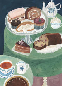 今日の絵「午後のお茶会」 - vogelhaus note