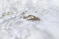 K18シャンパンゴールドとダイアモンドの結婚指輪 - psyuxe*旅とアトリエのあいだ