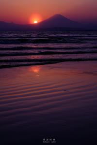 第829回   湘南富岳三十六景其之二十二~春の夕景~ - 湘南群青 -The sunset  blue -