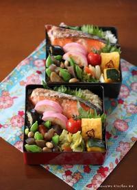 月曜鮭弁 ✿ 残り物(๑¯﹃¯๑)♪ - **  mana's Kitchen **