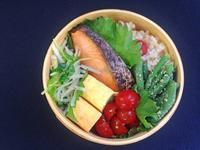 3/27鮭弁当 - ひとりぼっちランチ