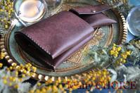 イタリアンレザー・プエブロ・コンパクト2つ折り財布とコインケース・時を刻む革小物 - 時を刻む革小物 Many CHOICE~ 使い手と共に生きるタンニン鞣しの革