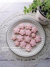 桜アイシングクッキー*残念な桜シフォン - nanako*sweets-cafe♪