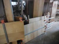 モザイクキャビネット の 接ぎ合せ2回目。 - 手作り家具工房の記録