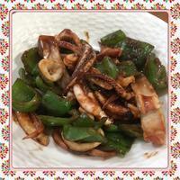 イカとピーマンの辛味噌炒め(レシピ付) - kajuの■今日のお料理・簡単レシピ■