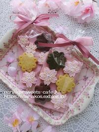 桜アイシングクッキーのラッピング - nanako*sweets-cafe♪