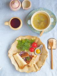 カツサンドの朝ごはん - 陶器通販・益子焼 雑貨手作り陶器のサイトショップ 木のねのブログ