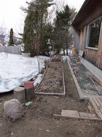 雪解け進んで・・雪割り進んで、3月末の庭 - あいやばばライフ