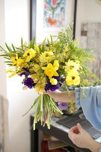 2月のlesson 春のお花を束ねる -  La Fleur