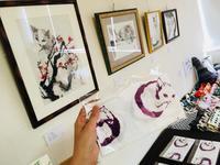 猫の手ぬぐい・・・「猫祭」が「獺祭」に見えてしまう。 - コミュニティカフェ「かがよひ」