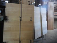 モザイクキャビネットの引き出しの底板 - 手作り家具工房の記録