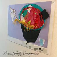 ダイソーのスリムピンで子供の作品コーナーをリニューアル - 40歳からはじめる「暮らしの美活」