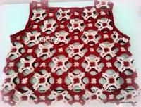モチーフ編みのベストできました♪その2 - ルーマニアン・マクラメに魅せられて