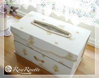ローラシュレイでティッシュケース〜マスク収納タイプ♪ - Rosy Rosette カルトナージュ日記