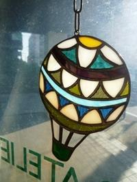 気球に乗ってどこまでも - atelier GLADYS  ステンドグラス工房 作り手の日々