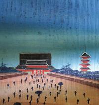 泥絵・江戸浅草寺/卯月4月・2018幾一里カレンダーより。 - 京都の骨董&ギャラリー「幾一里のブログ」