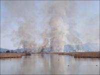 湖面に煙りたなびく - じょんのび