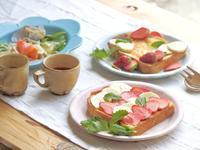 いちごオープンサンドの朝ごはん - 陶器通販・益子焼 雑貨手作り陶器のサイトショップ 木のねのブログ