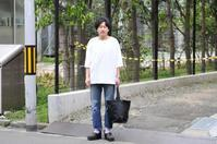 smoothday スムースデイ / Unisex 七分袖オーバーサイズTsh 40/-テクノラマ天竺 - i.d.&company