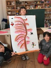 桜満開〜伸びて咲いたよ! - キッズクラフト子ども絵画造形教室・大阪市淀川区と豊中・箕面