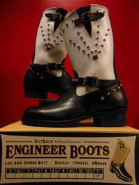 Attractions 新型 Lot.444 ENGINEER BOOTSエンジニアブーツ/BLACKXWHITE/スポッツ加工 - ROCK-A-HULA Vintage Clothing Blog